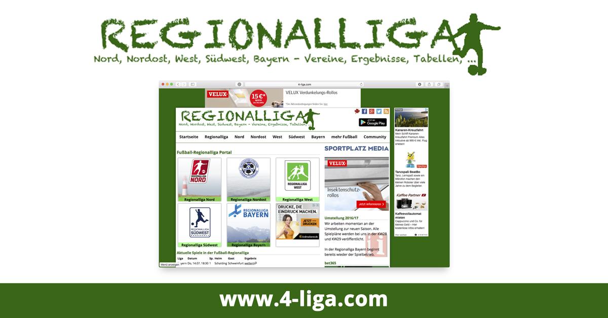 Fussball Regionalliga Portal 4 Liga Com